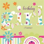 Birthday Girl - Personalised Card