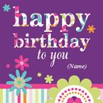 Happy Birthday - Personalised Card