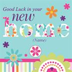 Good Luck In Your New Home - Personalised Card