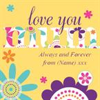 Love You Mum - Personalised Card