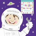 Spaceboy Birthday - Personalised Card