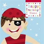 Pirates Birthday - Personalised Card