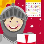 Knights Birthday - Personalised Card
