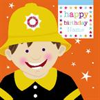 Fireman Birthday - Personalised Card