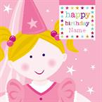 Princess Birthday - Personalised Card