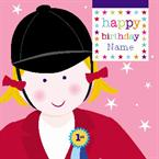 Horse Riding Birthday - Personalised Card