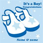 It's a Boy- Personalised Card