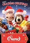 Wallace & Gromit Cracking Christmas - Personalised Card