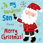 Wonderful Son Merry Christmas - Personalised Card