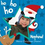 Merry Christmas Nephew - Personalised Photo Card