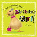 Cute Chick Birthday - Personalised Card