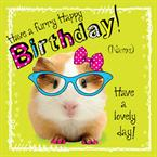 Guinea Pig Furry Birthday - Personalised Card
