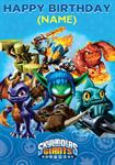 Skylanders Birthday - Personalised Card