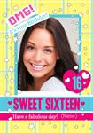 Sweet Sixteen OMG! - Personalised Photo Card