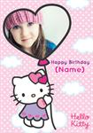 Hello Kitty Birthday - Personalised Photo Card