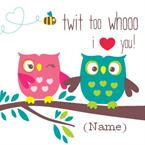 Twit Too Whooo - Personalised Card