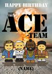 The Ace Team Birthday - Personalised Card