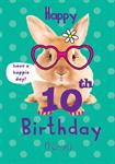 Happy 10th Birthday - Personalised Card