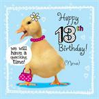 Chick 13th Birthday - Personalised Card