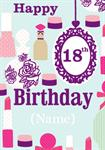 18th Make-Up - Personalised Card