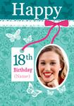 18th Birthday Lace - Personalised Photo Card