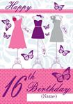 Dress Shop 16th Birthday - Personalised Card