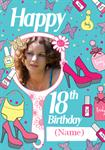 18th Birthday Lace - Personalised Card