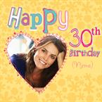Happy 30th Birthday - Personalised Photo Card