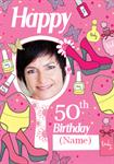 Dressed Up 50th Birthday - Personalised Photo Card