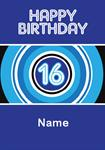16th Birthday - Personalised Card