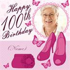 Shoes & Handbag 100th Birthday - Personalised Card