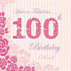 100th Birthday - Personalised Card