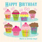 60th Birthday Cupcakes - Personalised Card