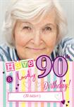 90th Birthday - Personalised Photo Card