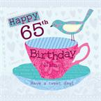 65th Birthday - Personalised Card
