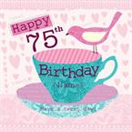 Happy 75th Birthday - Personalised Card