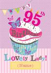 95th Cupcake Birthday - Personalised Card