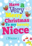 Merry Christmas Niece - Personalised Card