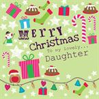 Merry Christmas Daughter - Personalised Card