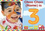 Choo Choo 3rd - Personalised Photo Invites