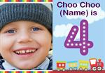 Choo Choo 4th - Personalised Photo Invites