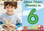 Choo Choo 6th - Personalised Photo Invites
