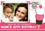 All Scream For Ice Cream - Personalised Photo Invites