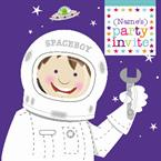Space Boy Party - Personalised Invites