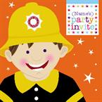 Fireman Party - Personalised Invites