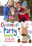 Robin Christmas Party - Personalised Photo Invites