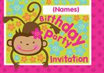 Hanging Monkey - Personalised Invites