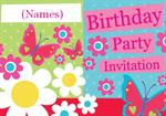 Summer Garden Party - Personalised Invites