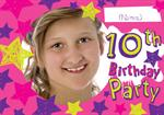 10th Birthday Party - Personalised Photo Invites
