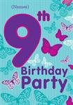 9th Birthday Party - Personalised Invites